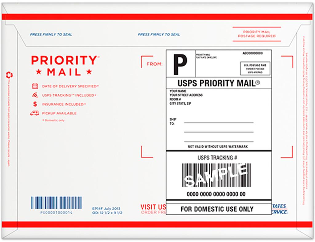 Usps Return Label >> Wholesale Priority Mail Forever Prepaid Flat Rate Envelope ...