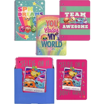 Wholesale Shopkins 1 Subject Spiral Notebook 312 Count 50 Sheets 4 Assorted Covers Sku 2325812 Dollardays