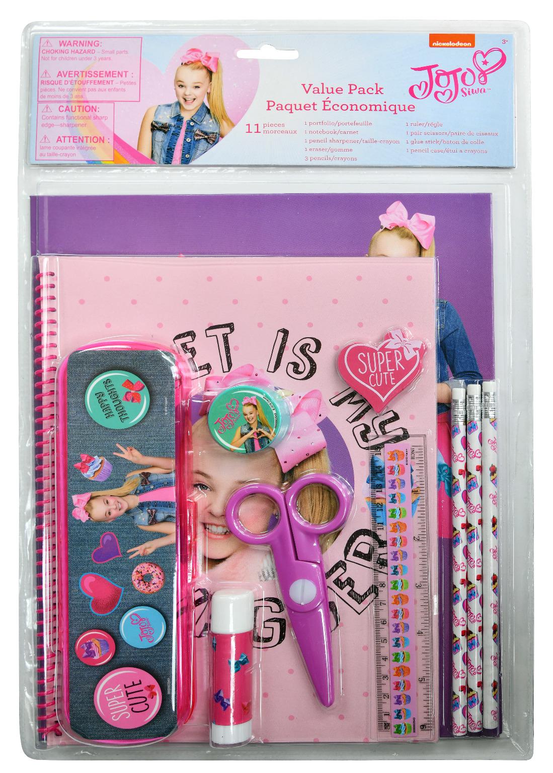 Wholesale Jojo Siwa 11 Piece Value Pack With Plastic