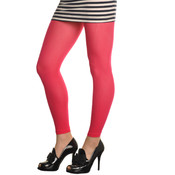 Footless Ribbed Tights - Assorted Colors