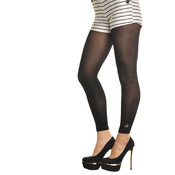 Footless Tights with Design Accent