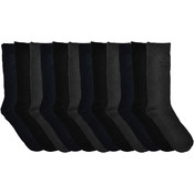 Men's Ribbed Dress Socks - Assorted Colors - Size 10-13