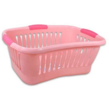 Pink Plastic Laundry Basket Adorable Wholesale Laundry Basket 60 L Plastic Pink Laundry SKU 60