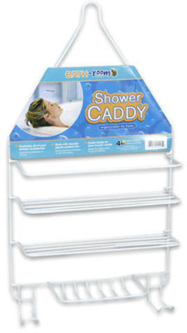 Wholesale 18 5 Quot Vinyl Coated White Shower Caddy With 2