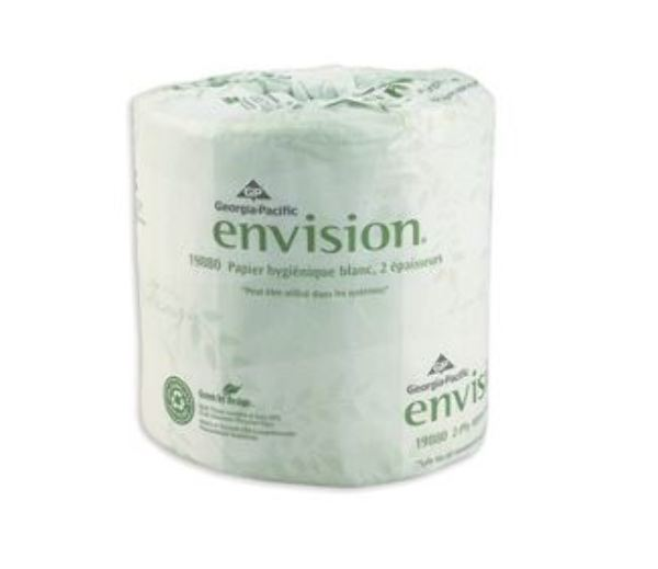 Wholesale Envision 2 Ply White Embossed Bathroom Tissue