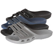 Men's Slide Sandals with Suede Detail Sizes 7-12