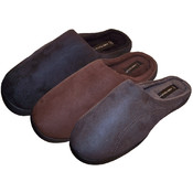 James Fiallo Mens Cozy Suede Slippers Size S-XL